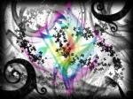 butterfly glitter rainbow