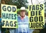 god hates fag idiot