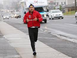 running on sidewalk 1